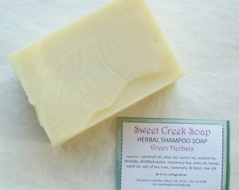 Silk Herbal Shampoo Soap, Green Herbals