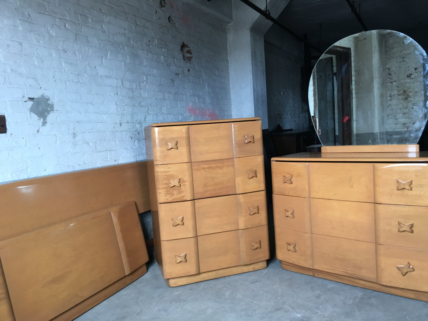 sold heywood wakefield rio bedroom set mid by daretobevintage 15544 | il fullxfull 956603246 6zqs