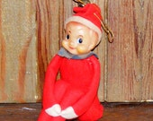 Vintage Knee Hugger Pixie Elf in Red Japan