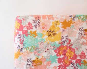 Floral Fitted Crib Sheet - Ready to Ship