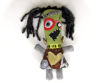 Bubbles Frankenstein  - a handmade Frankenstein's daughter doll