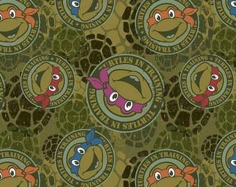 Mickey Turtle Disney licensed fabric knit 1 yard