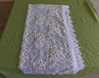 White Lace Beaded Shawl