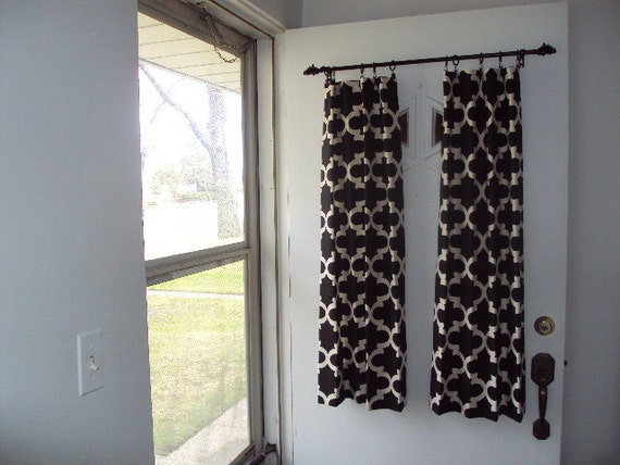 BACK Door Front Door Window Curtain Custom Made by countrycustoms