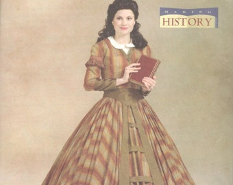 Butterick 4540 Fashion Historian Misses Victorian Costume Dress Pattern Making History Womens Sewing Size 8 10 12 14 Bust 31 32 34 36 UNCUT