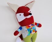 Mr Fox // A Handmade Plush Doll // He is one-of-a-kind // Would be a perfect and unique gift