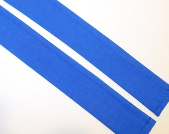 Neck Cooler Cool Tie in Medium Blue Cotton Fabric with Cooling Crystals