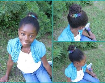 One Bun Scrunchie, Crocheted Ponytail Holder, Multi-colored Scrunchie, Crochet Bun Scrunchie, Girls Hair Accessory, 1 Bun Cover