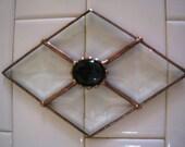 Victorian Style Diamond Beveled Suncatcher
