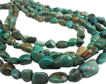 Turquoise Nugget, Turquoise Beads, Green Blue Turquoise, December Birthstone, SKU 4580A