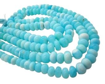 Blue Peruvian Opal Beads, Peruvian Opal Beads, Blue Opal Beads, Rondelles, SKU 5140