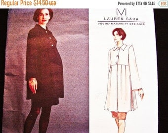 SALE 25% Off Maternity Dress Pattern Misses size 12 14 16 Uncut Vogue Pattern Womens Maternity Top and Skirt