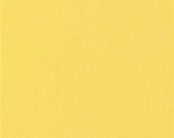 211368 solid butter yellow Cloud 9 organic fabric Butter from the USA