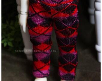 ABJD Dollfie Teenie Gem Little Fee TG LTF argyle leggings