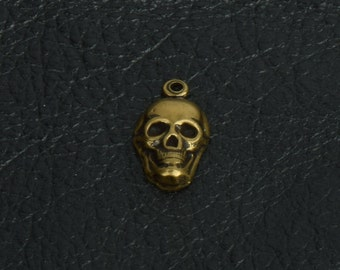 14x10mm Steampunk Skull Charm,  Antique  finish, pack of 6 15255BR