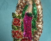 Small guadalupe sequin patch applique