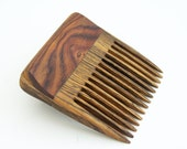 Cocobolo and Bocote Beard Comb (Handmde in USA) C2  Gift for Him - 5th Anniversary - Father's Day - Gift for Boyfriend - Gift for Husband