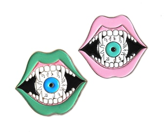 Eyeball Eater Soft Enamel Lapel Pin