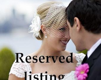 RESERVED - Bridal Birdcage Veil, Wedding Hair Accessory, Ivory Veil, White Veil, Bridal Headpiece, VANDA