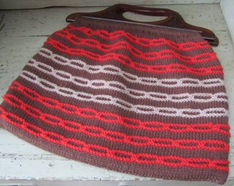 Keep the Needles Safe - Vintage Hand Knitted Knitting/Sewing Bag