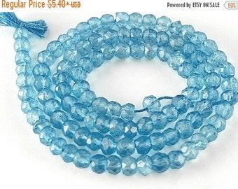 SALE - Soft Blue Quartz  Gemstone Faceted Rondelle  4mm  Semi Precious Gemstone. Your Choice. aqb6