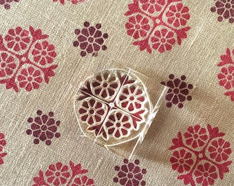 Floral Stamp Set - Pattern Making Stamps  - Clear Stamps - Daisy Chain