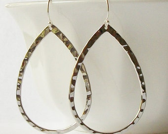 Shiny Silver Hoop Earrings Glossy Silver Hoops, Glossy Silver Hoops, Gifts under 20