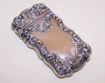 ANTIQUE VICTORIAN Sterling Silver Match Safe