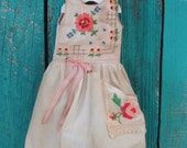 Blythe doll OOAK outfit *Les fleurs de Provence* embroidered vintage style dress