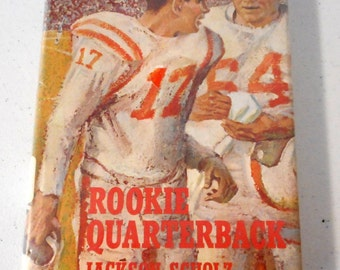 Vintage Football Book Rookie Quarterback by Jackson Scholz Sports Athletics Boys Room Decor