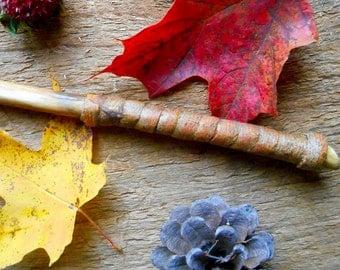Vine wood magic wand, handmade wand with bark wrap, FREE US Shipping, natural vinewood wand, joy spells