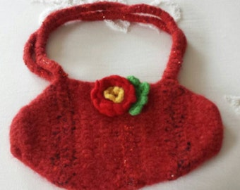Crocheted Felted Purse