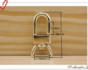 3/4 inch ( 19mm) light gold  Trigger Snaps hook For Keychains  Purse clasp strap clasp swivel clasp 8pcs    CF43