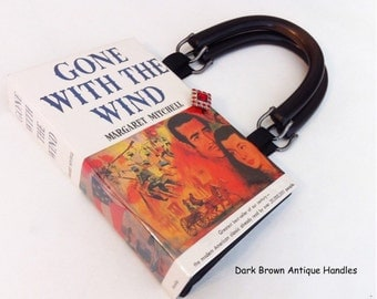 Gone With The Wind Recycled Book Purse - Scarlett O Hara Costume Accessory - Southern Belle Book Bag - Literary Book Gift