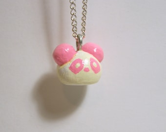 pink panda necklace