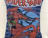 Decorative Pillow, Chair Pillow, Decorative Throw Pillow, Sofa Pillow, Couch Pillow, Bed Pillow, Spiderman, Accent Pillow, Blue Pillow