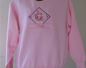 Gigi, Personalized, Embroidered Signature Series Sweatshirt