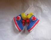 Converse Sneakers Crochet Boy Baby Booties