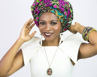 Turban, Head wraps for women, African head wrap, Head scarf, African headwrap, African head scarf, African fabric, Scarves, African clothing