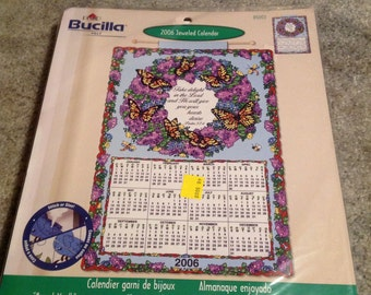 Bucilla--2006 Jeweled Calendar Kit--Monarch BUTTERFLY Wreath--Sealed--Unused--Number 85003
