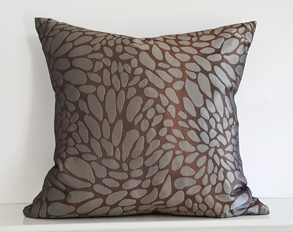 copper brown pillow brown grey pillow cover abstract circles. Black Bedroom Furniture Sets. Home Design Ideas