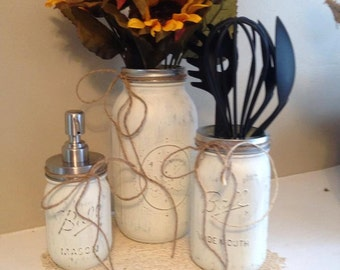 3pc Kitchen Mason Jar set