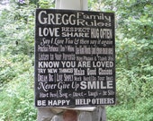 Custom Family Rules sign personalized with your House Rules,  Housewarming gift, Wedding Gift