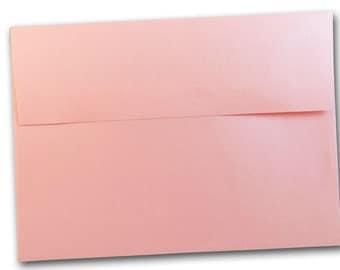 Metallic Rose Quartz Pink A2 Envelopes - 25 pack