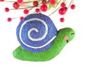 Snail Christmas Ornament, Glitter Snail Ornament, Snail Decoration, Handmade Christmas Ornament, Woodland Christmas