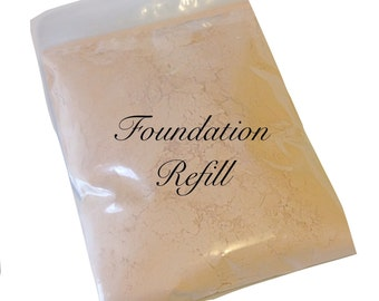 Mineral Makeup Mineral Foundation Refill • Bulk Mineral Foundation • Eco Friendly Foundation Refill • Earth Mineral Cosmetics Brand