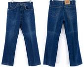 LEVIS Boyfriend Jeans 1960s Denim Levi High Waist Vintage Dark Wash BLACK TAB Jeans Size 34