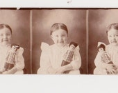 Antique 1800's PHOTO BOOTH GIRL Doll Dress Child Scrapbooking Scrapbook Collage Mixed Media