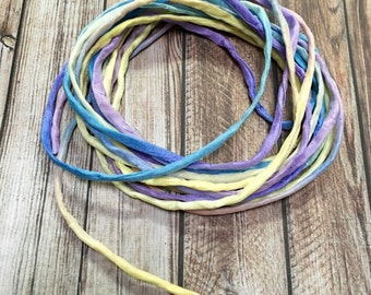 3mm hand rolled silk string/ cord hand dyed
