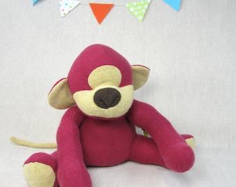 Monkey, Handmade, Stuffed Animal, Toy, Children, Plush